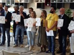 L'assessore all'ambiente di Trecastelli Liana Baci (al centro) alla premiazione nell'ambito della XVII edizione di Comuni Ricicloni