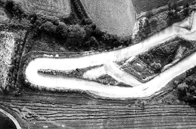 Edmo Leopoldi. Provino. Paesaggio Aereo. Dopo il 1974. Archivio Storico Leopoldi, Senigallia