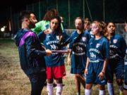 Mister Zacconi a colloquio con le ragazze dell'Ancona Respect