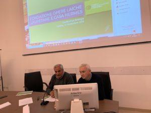 Il presidente Paolo Casali (a sinistra) intervenuto assieme al direttore generale Andrea Giglioni
