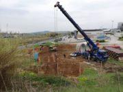 I lavori per le fognature (zona Cargopier)