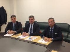 La presentazione dell'iniziativa: da sin.: Pisciatelli, Luciani e Giorgetti