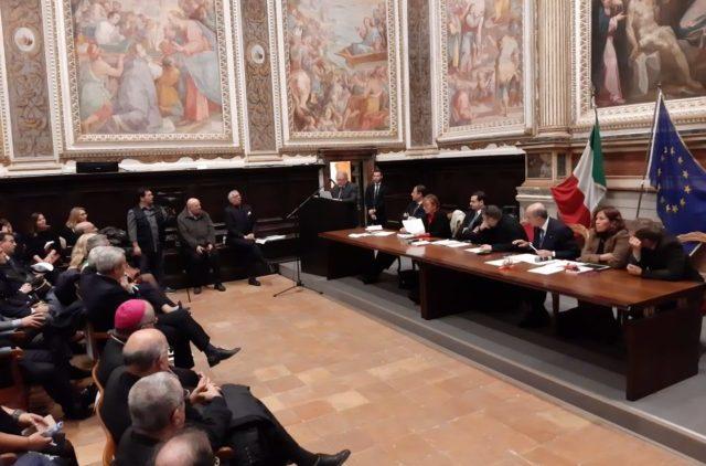 Il sottosegretario Carlo Sibilia a Fabriano