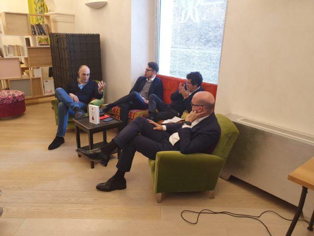 Fabriano: presentazione del libro di Filippetti con Francesco Casoli e Andrea Sasso