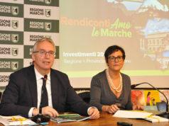 Il presidente della Regione Marche Luca Ceriscioli, insieme alla vicepresidente Anna Casini, ha illustrato gli investimenti realizzati nelle Marche e nella Provincia di Ascoli Piceno dal 2015 al 2019