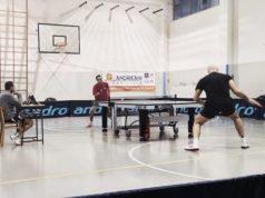 Una delle partite tra Tennis Tavolo Fabriano e Sorci Verdi Pesaro