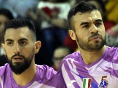 Taborda e De Oliveira festeggiano nell'ultimo match contro il Latina