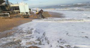 I danni della mareggiata che ha coinvolto Marina di Montemarciano