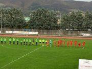 L'ingresso in campo di Fabriano Cerreto e Porto d'Ascoli