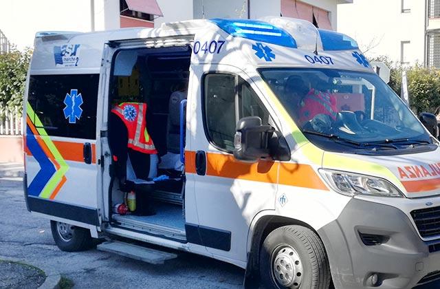 ambulanza a Senigallia, 118, soccorsi
