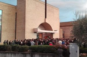 I funerali di Dennis Piangerelli