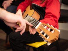 chitarra, musica, bambini, insegnamento, corsi