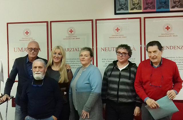 Da sinistra Pasquale Liguori, Franco Iantosca, Patrizia Ercoli, Stefani Franceschini, Giacomo Mancinelli e Stefano Brutti