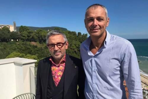 """Chef Barbieri a Numana per registrare la puntata di """"4 hotel"""""""