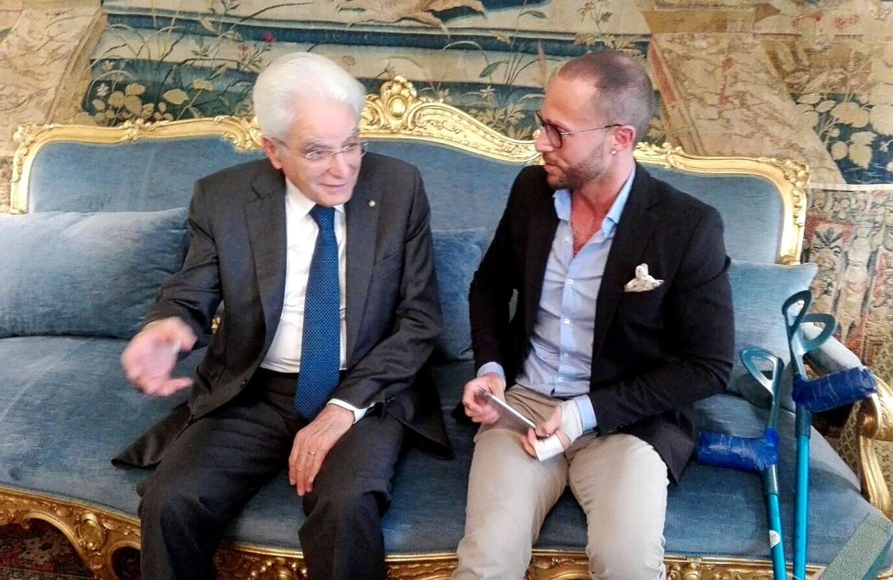 Ivan Cottini con il capo dello Stato Sergio Mattarella