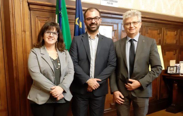Frenquellucci e Cattoi M5S Pesaro con il ministro Fioramonti