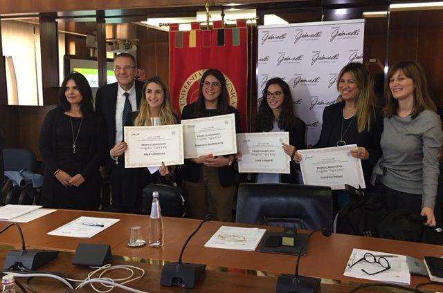 La premiazione delle studentesse vincitrici dell'edizione 2019 di Project Work