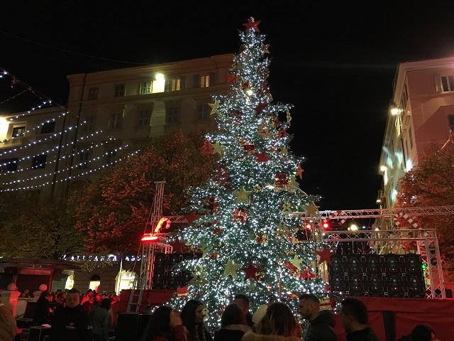L'albero di Natale in Piazza Roma
