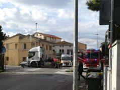 L'incidente a Loreto (foto Gianluca Castagnani)