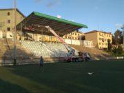 I lavori al campo sportivo Leoncavallo di Castelfidardo
