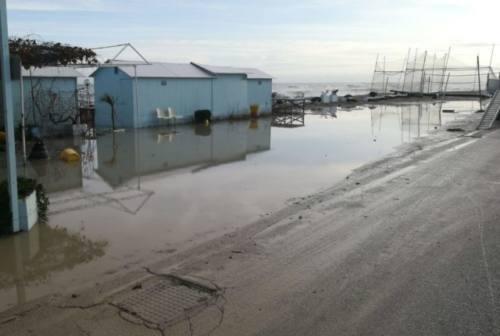 Maltempo, situazione drammatica a Montemarciano dopo la mareggiata