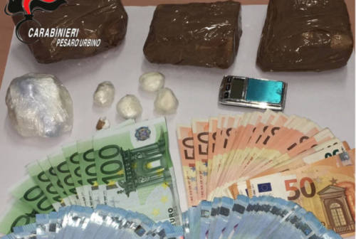Pesaro, patteggia in Tribunale il pusher trovato con 1 kg di coca e 10mila euro