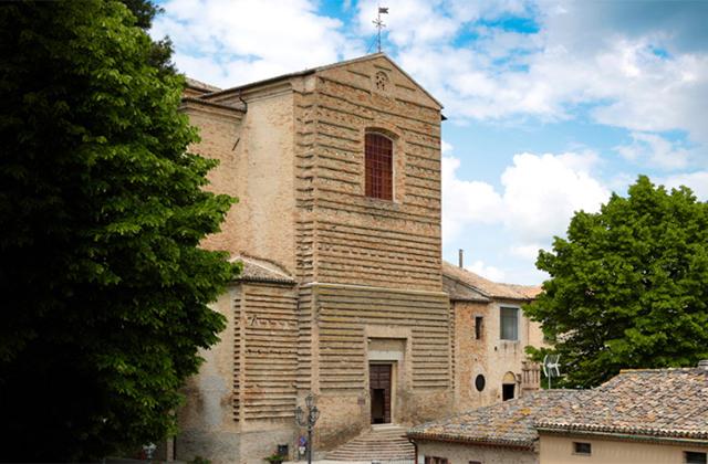 La chiesa collegiata di san Francesco a Corinaldo