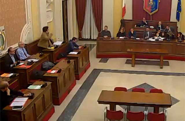 Elisabetta Palma in consiglio comunale