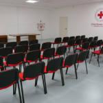 La sala riunioni e formazione della Croce Rossa Italiana, comitato di Senigallia
