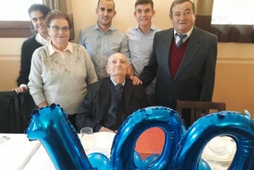 Belvedere Ostrense, 100 anni con gli auguri della Juve per Sante Avaltroni