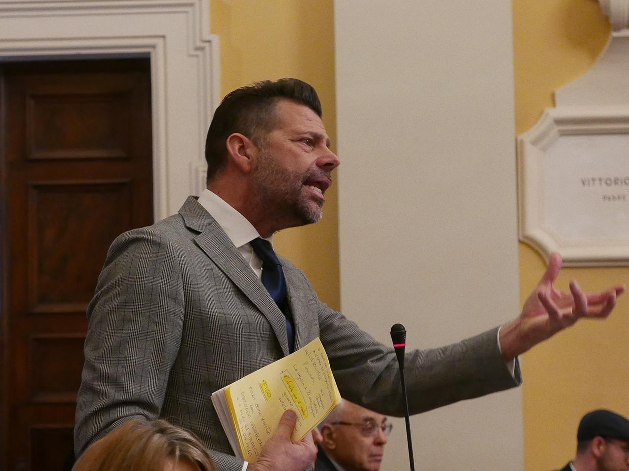 L'intervento del sindaco Mangialardi