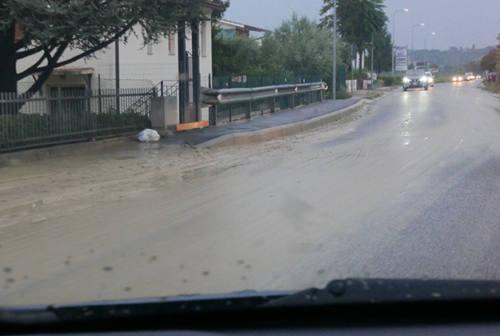 Pioggia in tutta la Valmisa: allagamenti e disagi alla circolazione