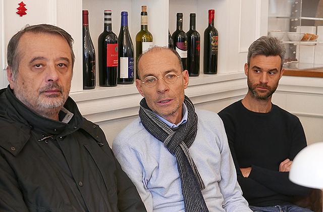 Da sinistra: Michelangelo Guzzonato, Simone Ceresoni e Lorenzo Beccaceci