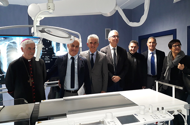 L'inaugurazione dell'angiografo ad Ascoli Piceno