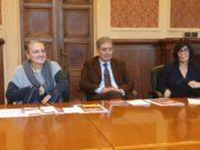 La presentazione del bilancio sulle iniziative di natale ad Ancona. Da sinistra: il sindaco Valeria Mancinelli e gli assessori Pierpaolo Sediari e Ida Simonella