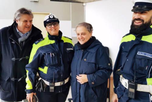 Il sindaco Mancinelli con i vigili di quartiere. Aperto al Piano l'ufficio distaccato della Polizia Locale