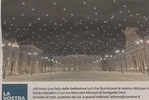 Senigallia, le luci di piazza Garibaldi finiscono sul Corriere della Sera