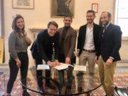 La firma del protocollo tra Fiap e Comune di Pesaro