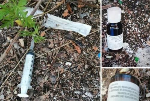 Siringa e metadone in bella vista ai giardini nuovi di Fabriano