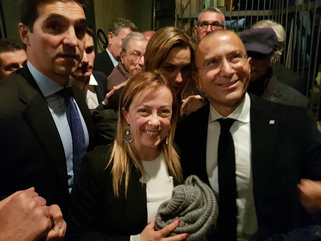 Francesco Acquaroli e Giorgia Meloni