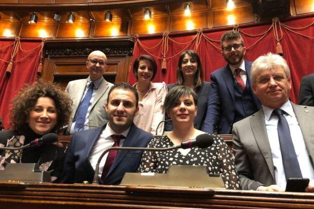 I deputati marchigiani del Movimento 5 Stelle. Da sinistra in alto Roberto Cataldi