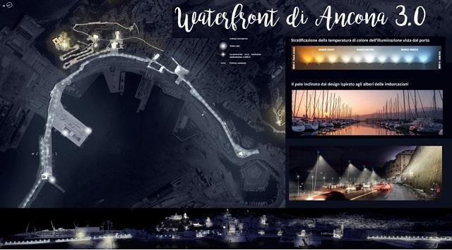 La nuova illuminazione del fronte mare