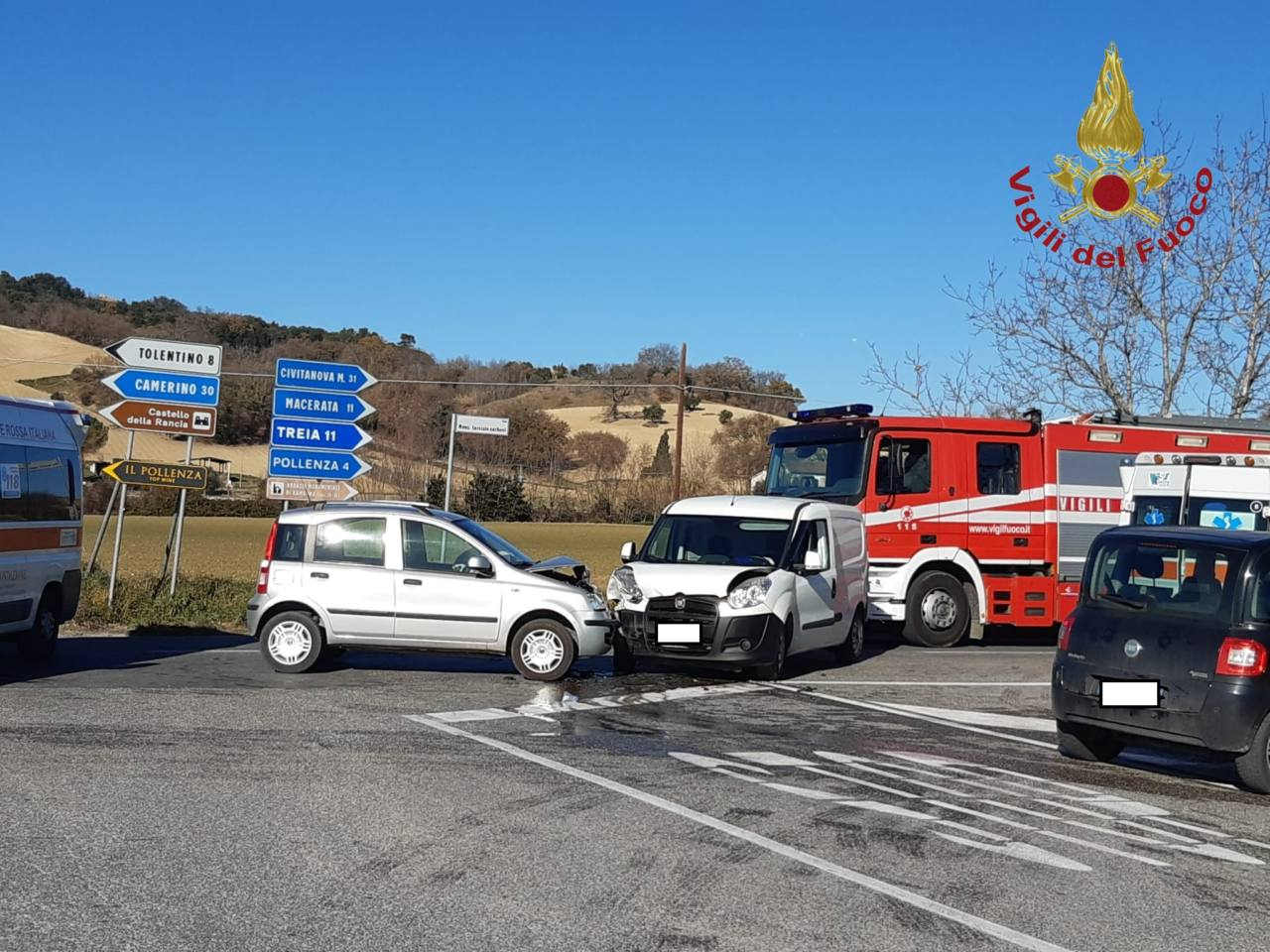 Incidente stradale a Pollenza