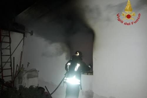Porto Recanati, garage in fiamme