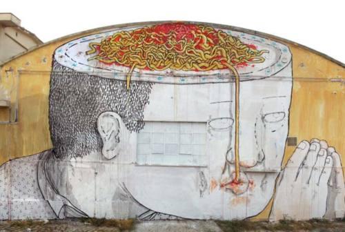 Danneggiato il murales di Blu all'ex Tnt di Jesi, il Comune: «Proveremo a ripristinarlo»