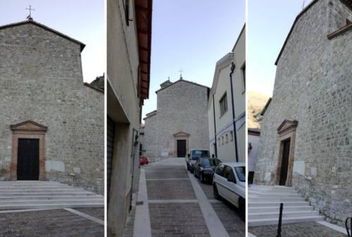 Pioraco, riapre la chiesa di San Vittorino. Il sindaco Cicconi: «Segno di speranza»