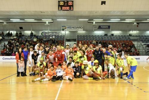 Futsal, Italservice e dottori clown in campo al pala Nino Pizza per solidarietà