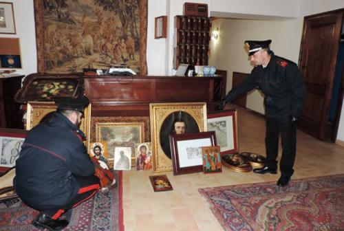 Monte Porzio, pronti a rubare gli arredi dalla residenza storica, due arresti