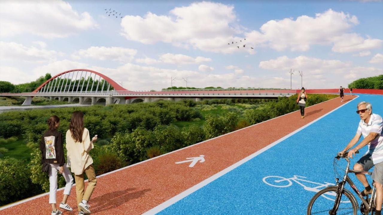 Il progetto del ponte ciclopedonale sul Cesano