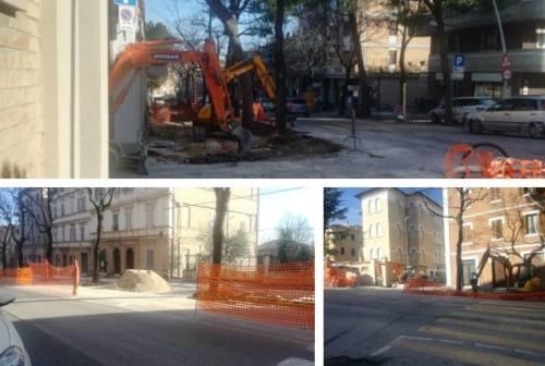 Macerata, viale Martiri della Libertà tra disagi e attesa del progetto finito